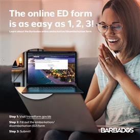 Cartão ED online de Barbados